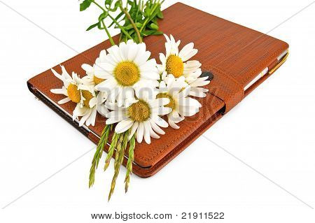 Notebook With Pen And Daisies