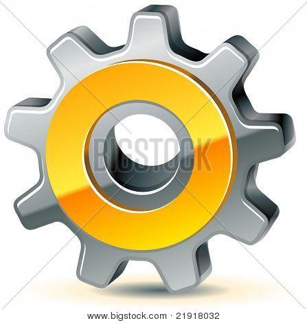 vector gear as preferences icon, 10 eps