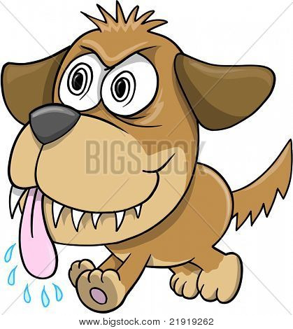 Wild Crazy Evil Insane puppy Dog