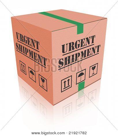 urgent shipment cardboard box order delivery after online shopping deliver parcel fast