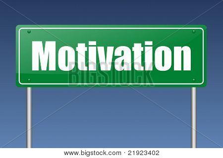 señal de tráfico de la motivación