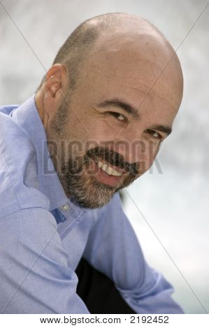 Middle Aged Man Smiling
