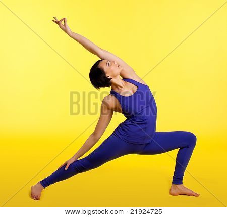 Beauty young woman exercise yoga