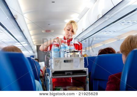 Air Hostess At Work
