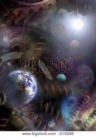 Reloj del universo. El dedo cerca de 12