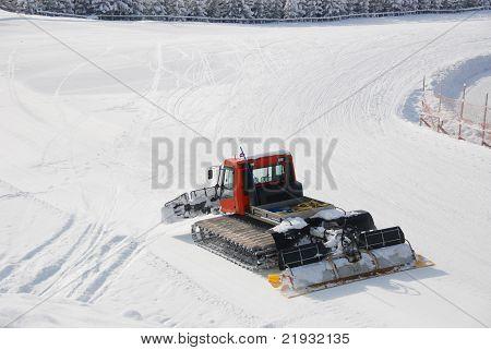 Snowcat Prepairing Runway
