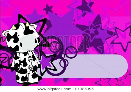cow cartoon plush background