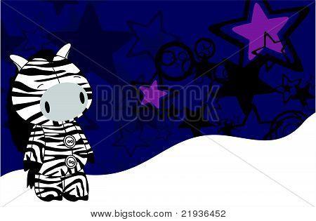 zebra cartoon plush background