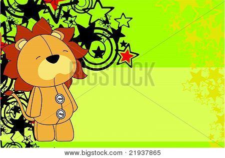lion plush cartoon background