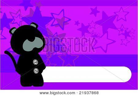panther plush cartoon background