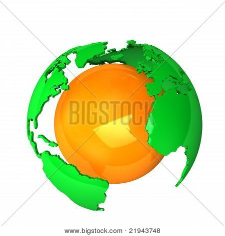Green Orange Earth