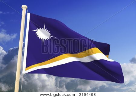 Marshall Island Flag (Clipping Path)