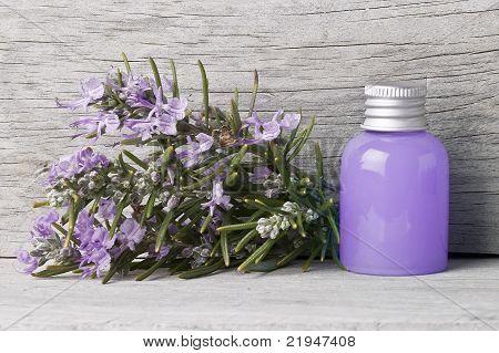 Bottle Of Rosemary Gel.