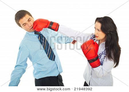 Business Man Being Kicked