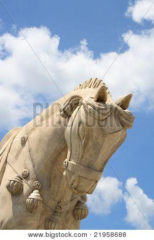 Terracotta war horse statue