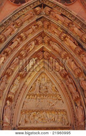 Main Arc Of Cathédrale Notre-dame De Strasbourg, France