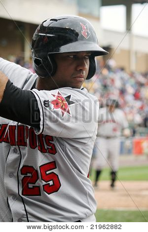 Indianapolis Indians third baseman Andy Marte