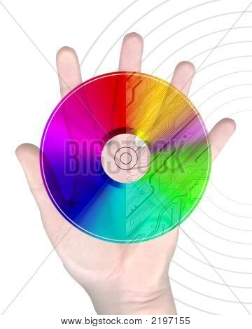 Human Hand With Cd Disc