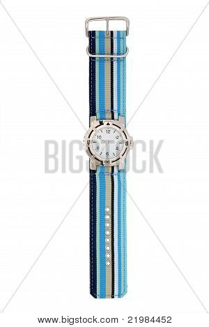 Blue striped watch