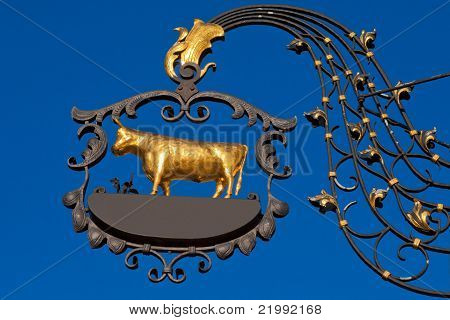 Wrought iron sign - - ready for your label