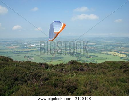 Red, White And Blue Paraglider