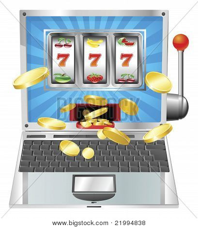 Laptop Slot Machine Concept