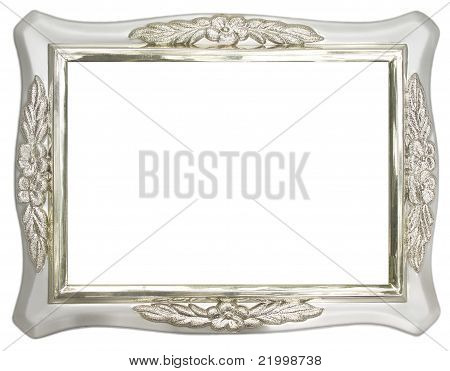 Close up of silver photo frame