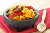 pic of poblano  - delicious sliced pickled hot jalapenos habaneros and chile de arbol peppers that will leave a hot spicy and burning sensation - JPG