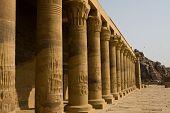stock photo of aswan dam  - Columns in Philae Temple in Aswan - JPG