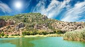 picture of dalyan  - Lykian rock tombs - JPG