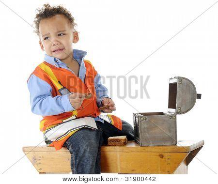 An adorable preschooler