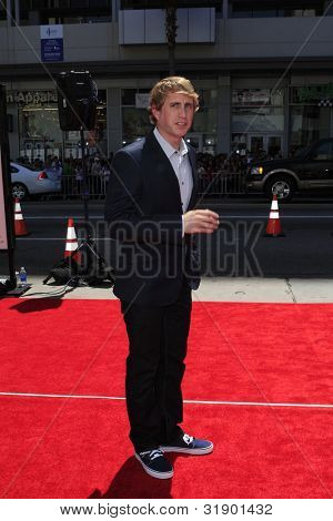 LOS ANGELES - APRIL 7: Kirby Heyborne arrives at