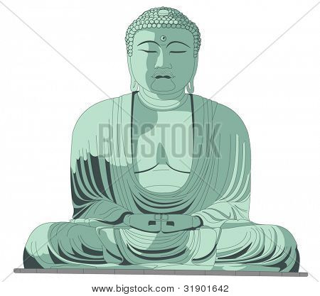 Sitting Buddha in vector art