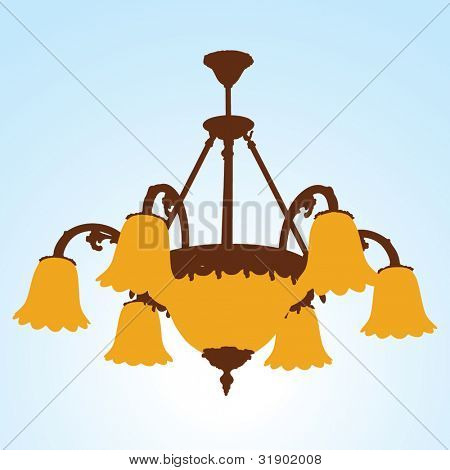 Chandelier Silhouettes with lamps