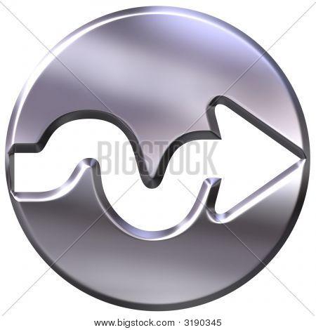 3D Silver Framed Arrow