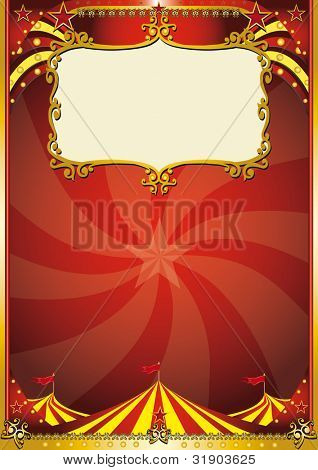 Top background. A new circus background with a big top for a poster. Write your message !