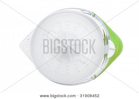 Modern juice extractor on a white background