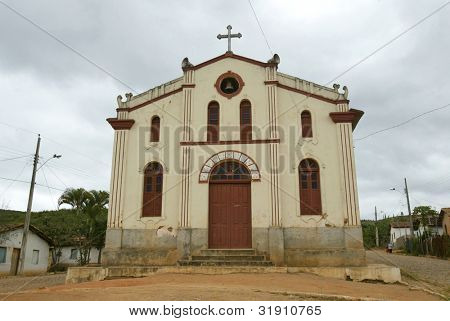 NOVO CRUZEIRO, BRAZIL - JULY 27: An exterior of the church of Sao Bento is shown July 27, 2005 in Novo Cruzeiro, Brazil. The town used to be known as Sao Bento.