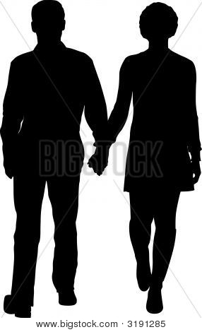 Vector Walking Couple