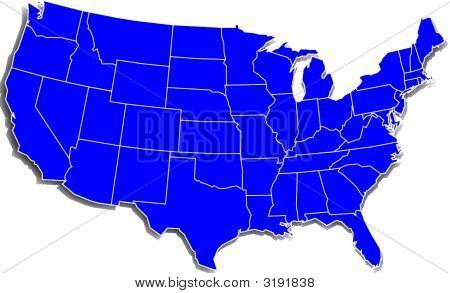 Mapa da Estados Unidos simples