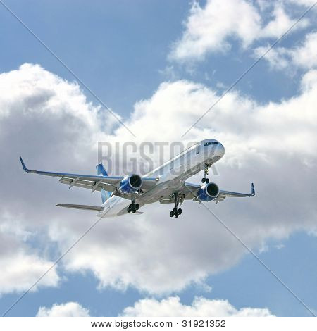 Modern Aircraft In The Sky