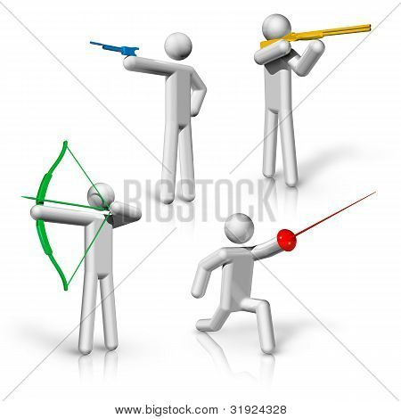 Sports Symbols Icons Series 1