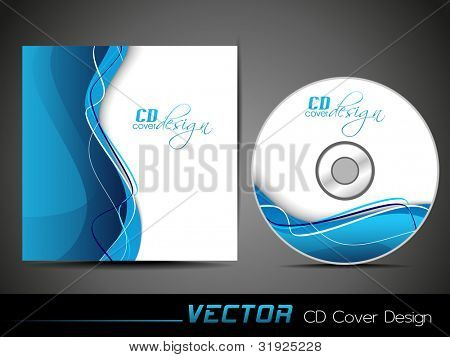 Vector Illustration CD Cover Vector & Photo | Bigstock