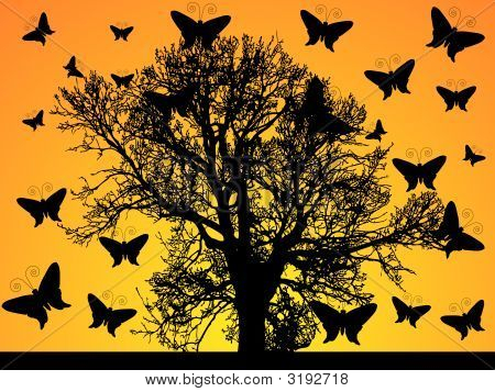 Illustration Of Abstract Tree Background