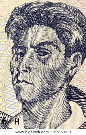 BOLIVIA - CIRCA 2007: Cecilio Guzman de Rojas (1899-1950) en billetes de 10 Bolivianos 2007 de Boliv