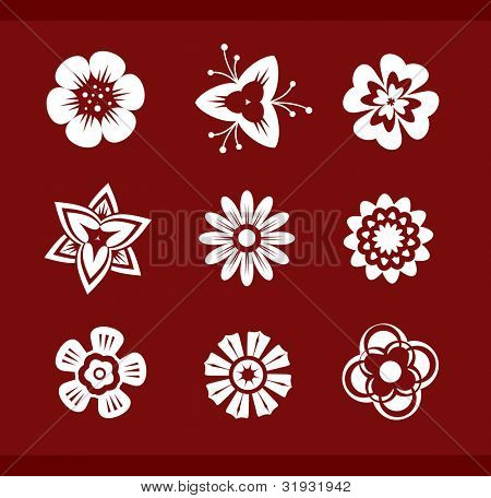 "Vector design elements: Flowers (p.1) To see all design elements, search by keyword: ""agb-des"""