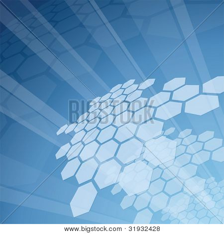 Blue hi-tech background - vector illustration