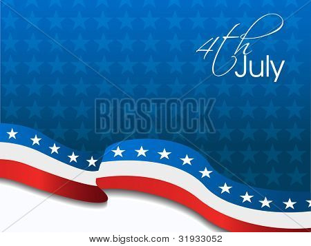 American Flag, Vector background for Independance Day and other events. Illustration in EPS 10.