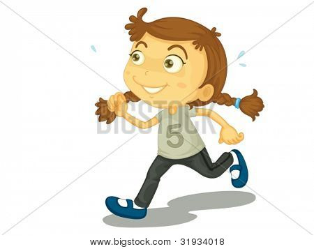 Illustration of a child running