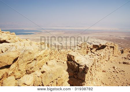 walls in Masada fortress